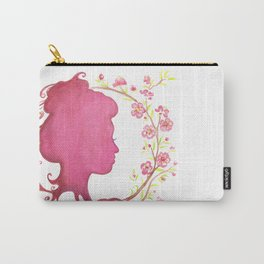 Spring Silhouette Carry-All Pouch