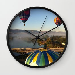 Wine Country Hot Air Balloon, Prosser Washington Wall Clock