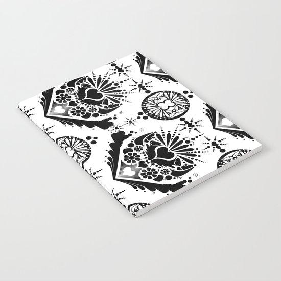 black pattern 8 Notebook
