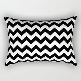 Black and White Chevron Print Rectangular Pillow