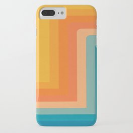 Retro 70s Color Lines iPhone Case