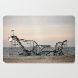 Jet Star Roller Coaster in Ocean After Hurricane Sandy Cutting Board
