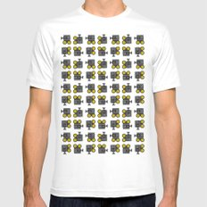 camera 01 pattern MEDIUM White Mens Fitted Tee