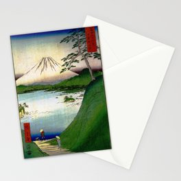 Hiroshige - 36 Views of Mount Fuji (1858) - 30: Misaka Pass in Kai Province Stationery Cards