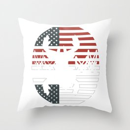 """Unique Shooting Tee For Hunters Saying """"American Flag"""" T-shirt Design Hunting Rifle America Throw Pillow"""