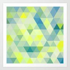 Positive Vibes Neon Geometric Print Art Print