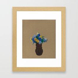 Odilon Redon - Pansies Framed Art Print