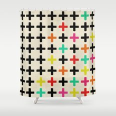 Plus Signs Shower Curtain