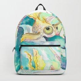 Kelpie unicorn and goldfish Backpack