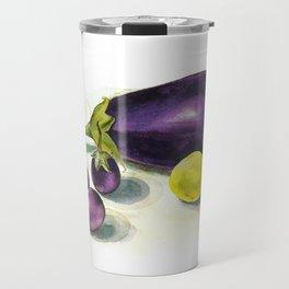 eggplants and lime Travel Mug