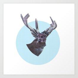 Deer in headlights Art Print