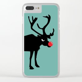 Angry Animals: Rudolph the red nosed Reindeer Clear iPhone Case