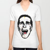 american psycho V-neck T-shirts featuring American Psycho by CultureCloth