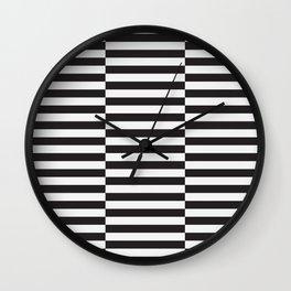IKEA STOCKHOLM Rug Pattern - black stripe black Wall Clock