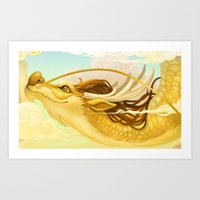 asian Art Prints featuring Asian Dragon by Sunset Dragon