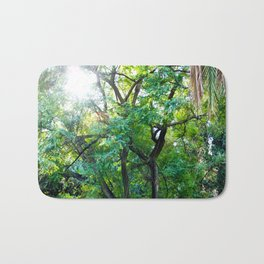 The enchanted woods | Bright tropical forest palm tree exotic green photography Bath Mat