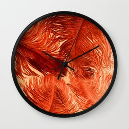 Feather Four Wall Clock