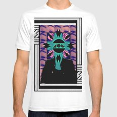 MIND OF A GENIUS.  Mens Fitted Tee MEDIUM White