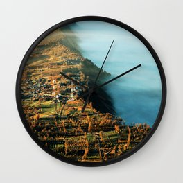 The City at the Edge of Clouds Wall Clock