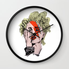 The Queen of pop as Bowie  Wall Clock