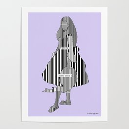 Whistler in Barcode Harmony in Grey and Green, Lavender Poster