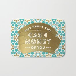 Cash Money – Mint & Gold Palette Bath Mat