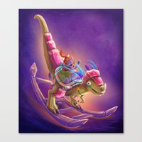 warcraft Canvas Prints featuring Raptor Swing - Warcraft by Heartmedia