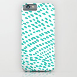 Turquoise Flow iPhone Case