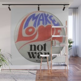 Make Love Not War Hippie Trippy 60s Peace Art Wall Mural