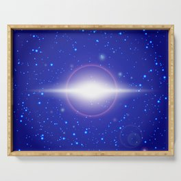 Abstract lights Serving Tray