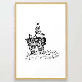 the man in the well Framed Art Print