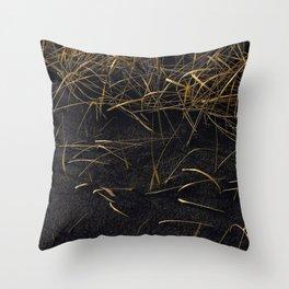 Black & Gold Throw Pillow