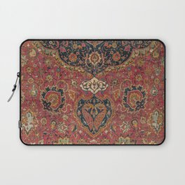 Persian Medallion Rug VII // 16th Century Distressed Red Green Blue Flowery Colorful Ornate Pattern Laptop Sleeve