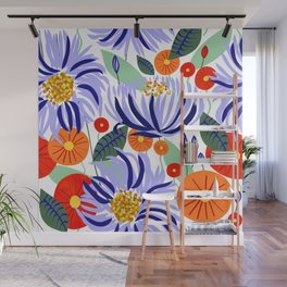 Alia #floral #illustration #botanical Wall Mural