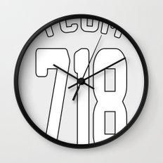 TCOM 718 AREA CODE JERSEY Wall Clock