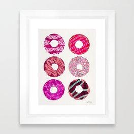Half Dozen Donuts – Magenta Palette Framed Art Print