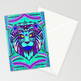 Symmetric Animals. LION Stationery Cards