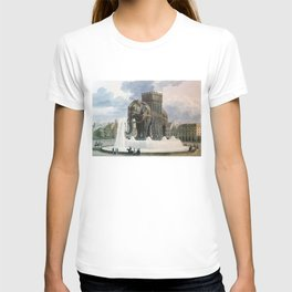 Vintage Elephant of The Bastille Illustration T-shirt