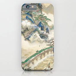 Tomita Keisen - Mt. Penglai (Mountain of Immortals) (1928) iPhone Case