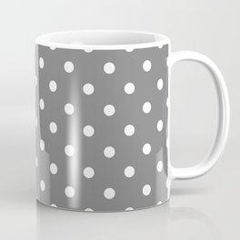 Grey & White Polka Dots Coffee Mug