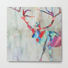 Rhizome Deer Metal Print