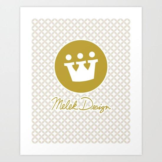 Melek Design Signature I Art Print