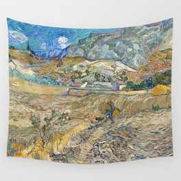 Landscape at Saint-Rémy by Vincent van Gogh Wall Tapestry
