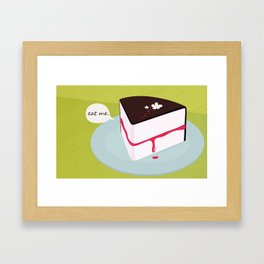 Eat me. Framed Art Print