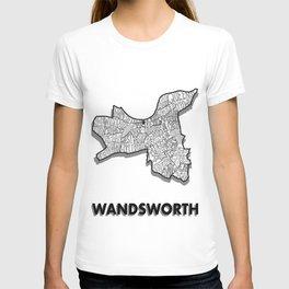 Wandsworth - London Borough - Detailed T-shirt