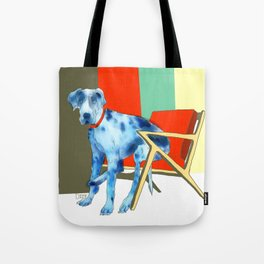 Great Dane in Chair #1 Tote Bag