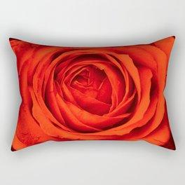 Vintage Rose,red Rectangular Pillow