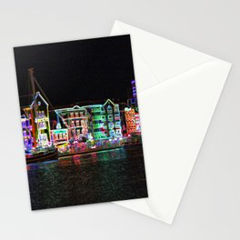 Neon Nights on Curacao Stationery Cards