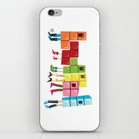 tetris iPhone & iPod Skins featuring Tetris by Sarit Evrani