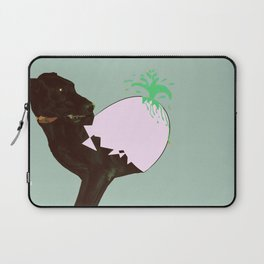 To spring a leak, is as dog is to egg. Laptop Sleeve